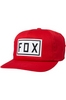 Fox Station Drive Train snapback hat red